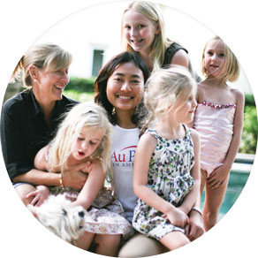 An Au Pair with her host family